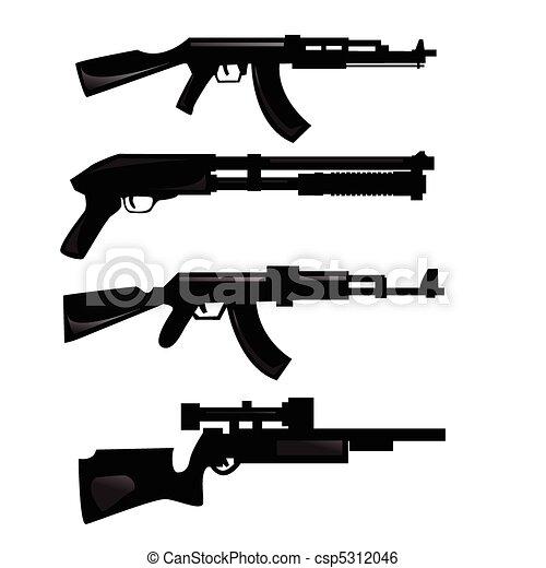arma, silhuetas - csp5312046
