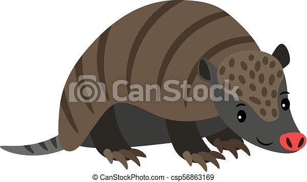 Armadillo cartoon animal icon - csp56863169
