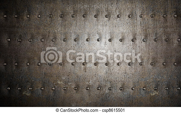 Antecedentes de metal de armadura con remaches - csp8615501