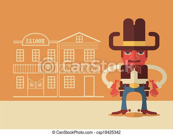Vaquero con armas - csp18425342