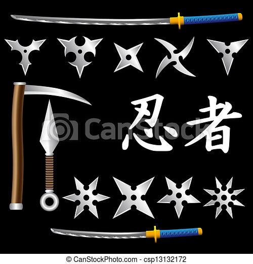 Armas ninja - csp13132172