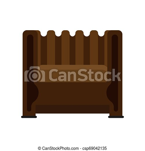 Armchair front view vector illustration interior furniture. Isolated rliving room cartoon icon. Flat indoor simple sit - csp69042135