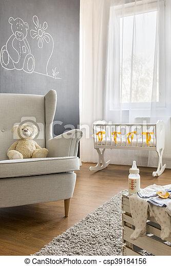 Armchair in baby room - csp39184156