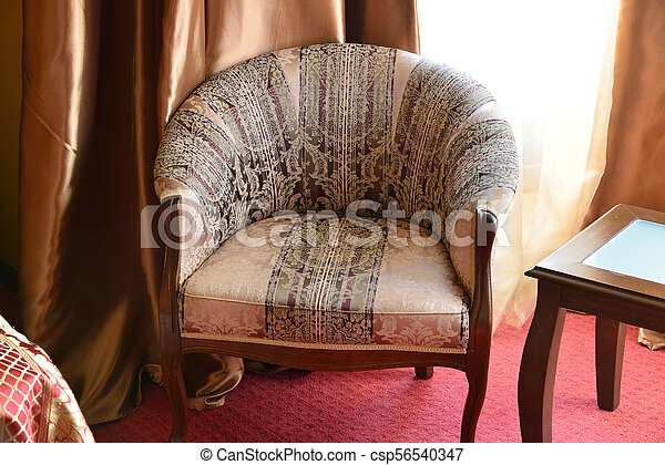 Armchair in interior of the room - csp56540347