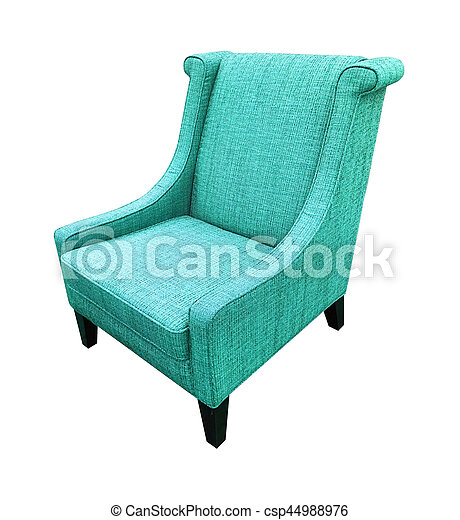 Armchair isolated on white background. Blue color - csp44988976