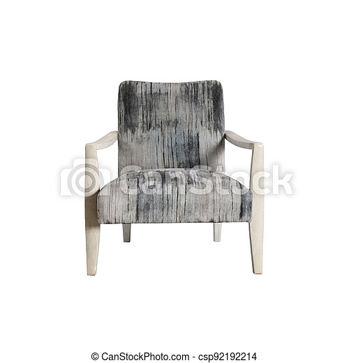 Armchair isolated on white background - csp92192214