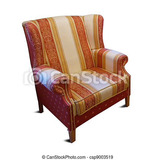 armchair. Isolated on white background - csp9003519