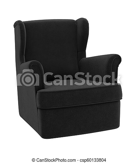 Armchair isolated on white background - csp60133804