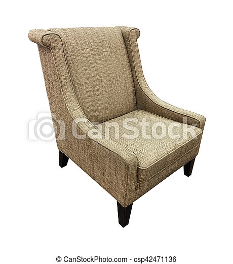 Armchair isolated on white background. - csp42471136