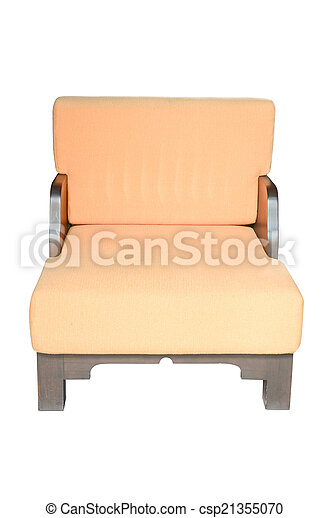armchair isolated on white - csp21355070