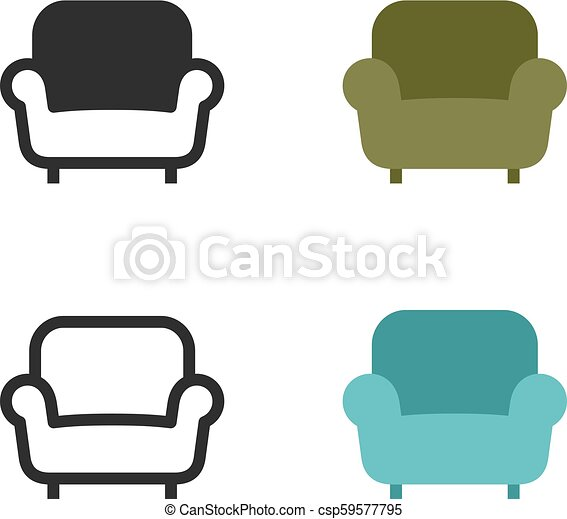 Armchair or sofa icons - csp59577795