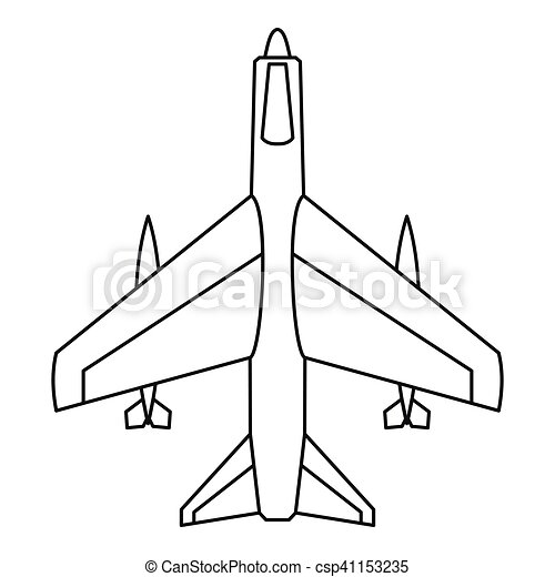 armed fighter jet icon  outline style armed fighter jet paper airplane clip art paper plane clip art