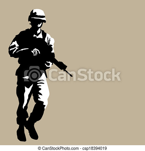 Armed Soldier - csp18394019