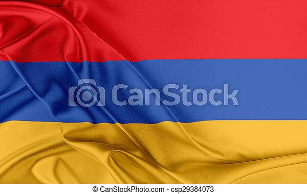 Armenia Flag. - csp29384073