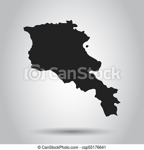 Armenia vector map black icon on white background gumiabroncs Image collections