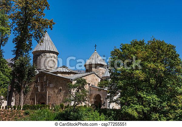armenien, haghartsine, grenzstein, tavush - csp77255551