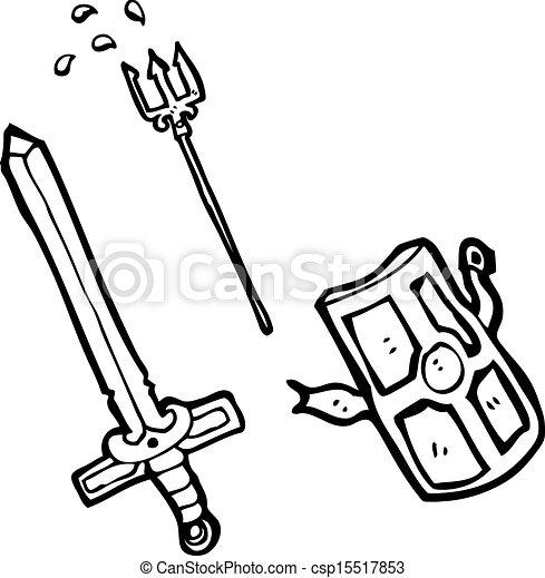 Armes dessin anim moyen ge - Dessins moyen age ...