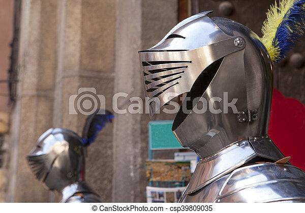 Armor helmet, Toledo, Spain - csp39809035