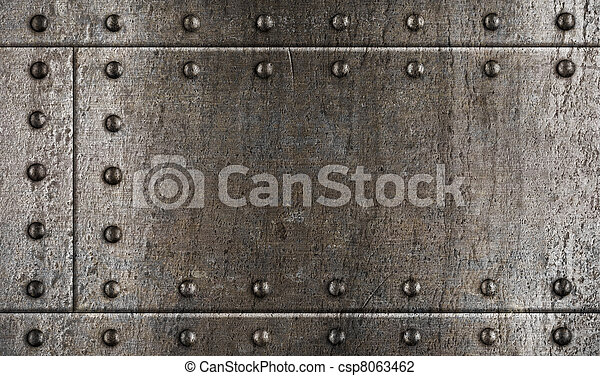armour metal background with rivets - csp8063462