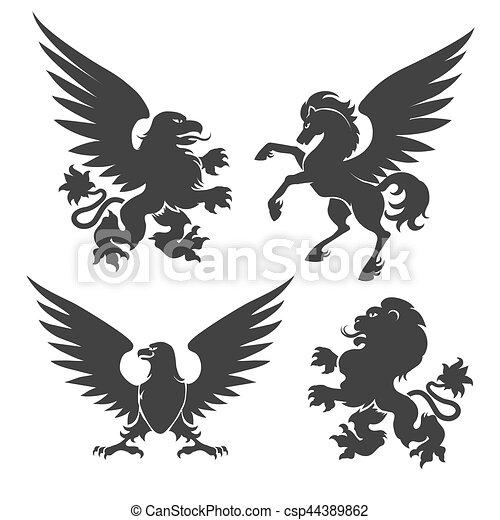 Arms coat animals - csp44389862