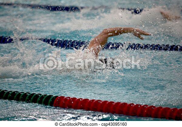 arms swimmer in the water drops - csp43095160