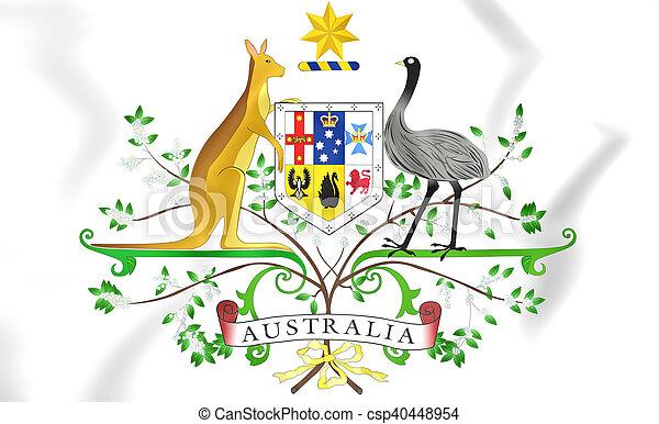 arms., täcka, australien, illustration., 3 - csp40448954