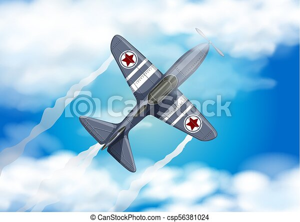 Army Air Force on the Blue Sky - csp56381024