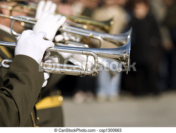 army brass band on Victory day in Russia - csp1300663
