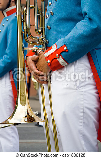 Army brass band - csp1806128
