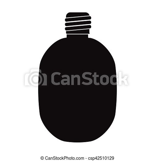 Army canteen icon in black style isolated on white background. Military and army symbol stock vector illustration - csp42510129
