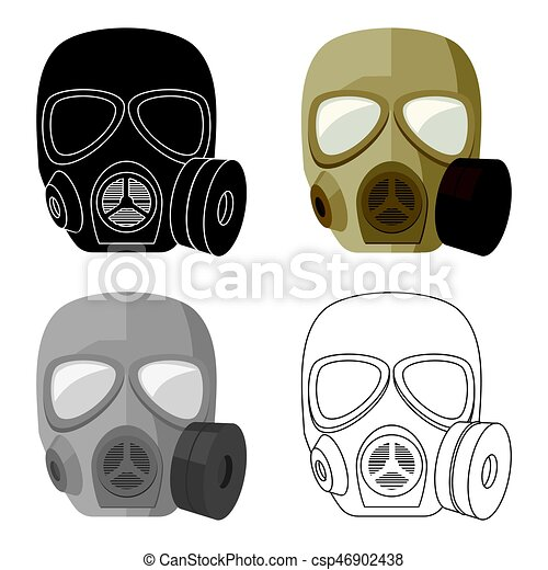 army gas mask icon in cartoon style isolated on white background rh canstockphoto com gas mask cartoon ww2 gas mask cartoon pics