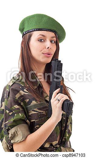 Army girl - csp8947103