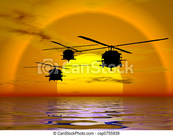 Army Helicopter, Blackhawk - csp0755939
