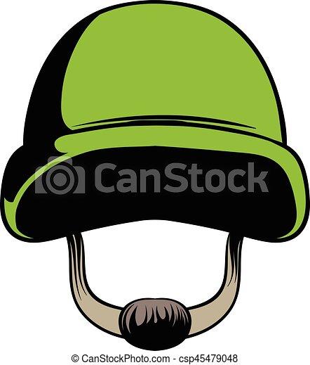 army helmet icon cartoon army helmet icon in cartoon style isolated rh canstockphoto com Cartoon Army Boots Cartoon Heart