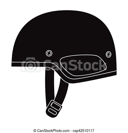 Army helmet icon in black style isolated on white background. Military and army symbol stock vector illustration - csp42510117