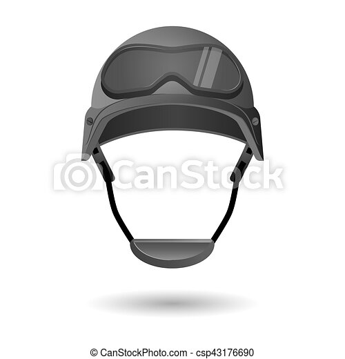 army helmet with glasses military flight helicopter hat isolated rh canstockphoto com Cartoon Army Boots Cartoon Banner