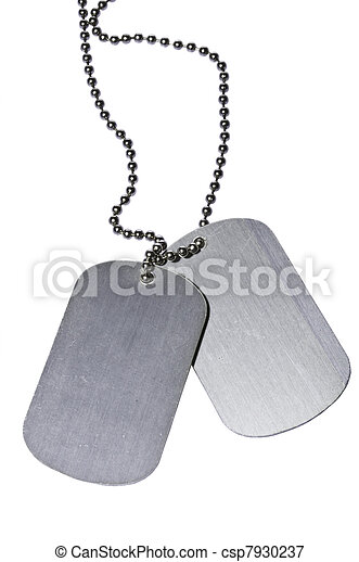 Army ID tags  - csp7930237