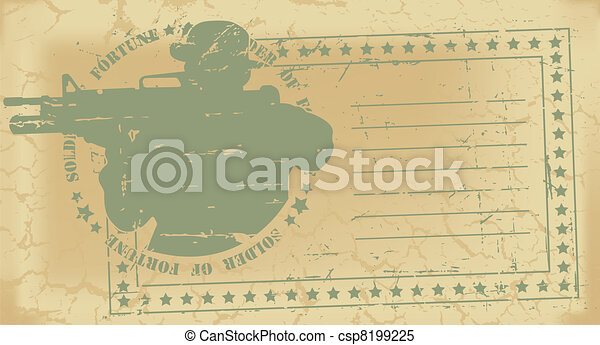 Army post stamp - csp8199225