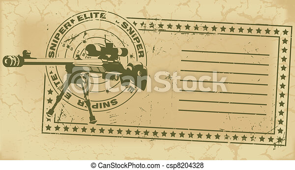 Army post stamp - csp8204328
