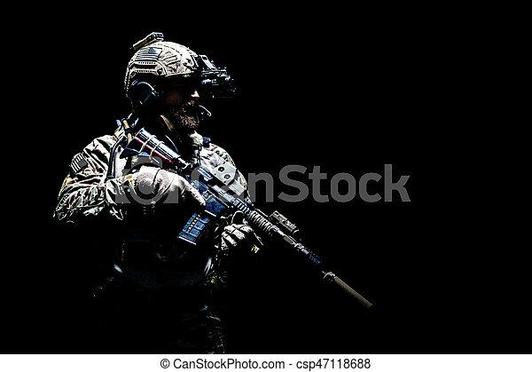 Army Ranger in field Uniforms - csp47118688