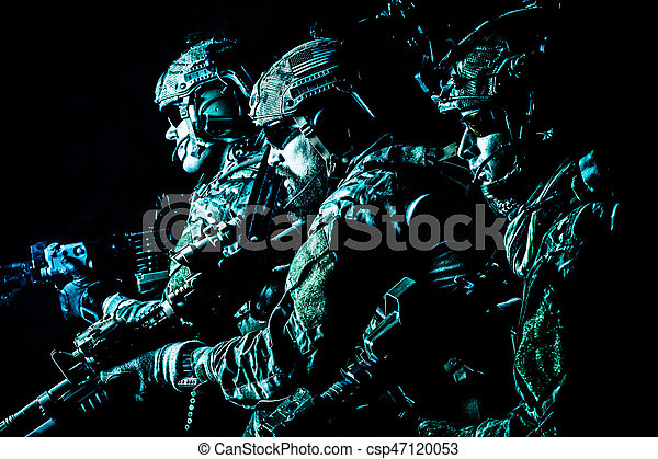 Army Ranger in field Uniforms - csp47120053