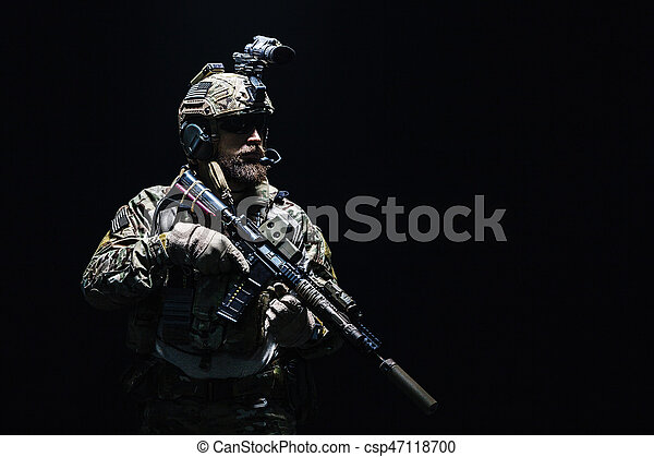Army Ranger in field Uniforms - csp47118700