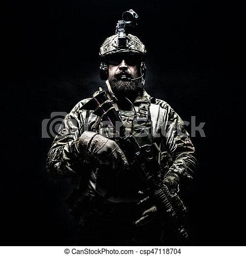 Army Ranger in field Uniforms - csp47118704