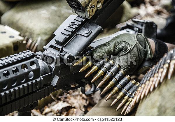 army ranger machine gunner - csp41522123
