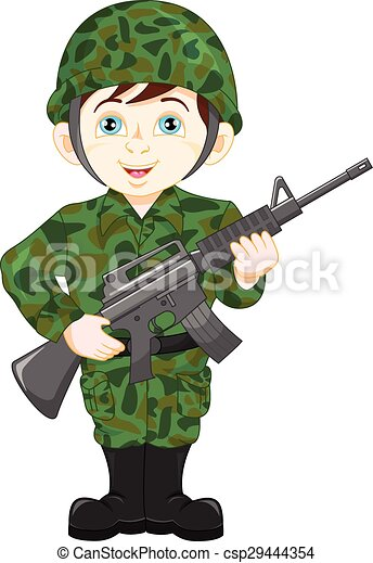 vector illustration of army soldier boy posing clipart vector rh canstockphoto com soldier clipart black and white soldier clip art images