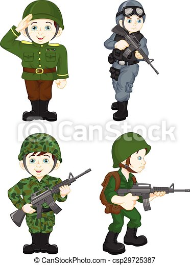 vector illustration of army soldier boy posing vector search clip rh canstockphoto com army clipart for a uscutter army clipart images