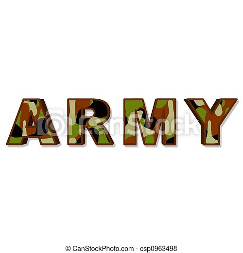 an illustration of the word army stock illustration search eps rh canstockphoto com army clipart images army soldier clipart free