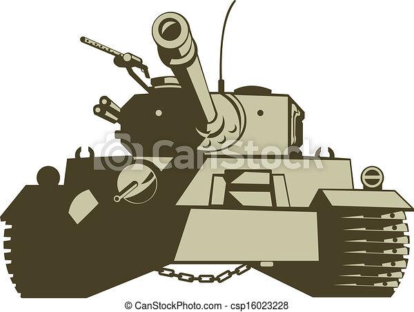 Army Tank Retro - csp16023228