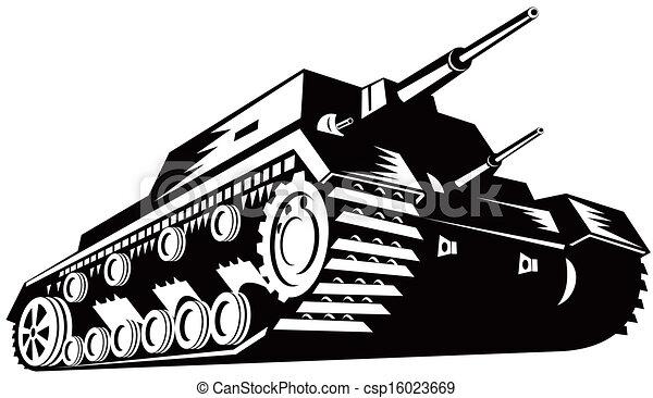 Army Tank Retro - csp16023669