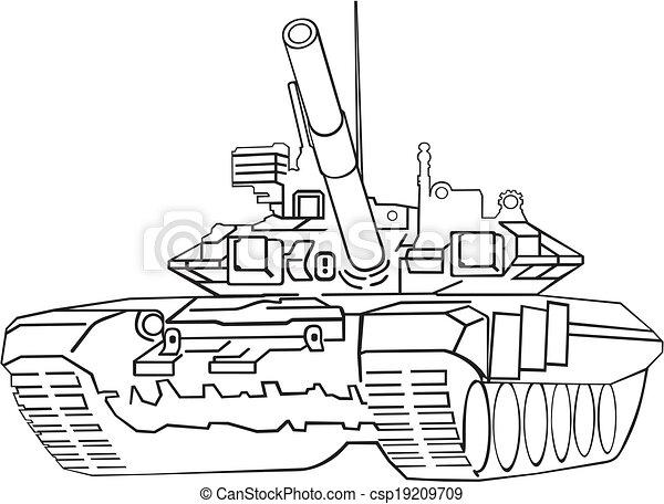 Army tank - csp19209709